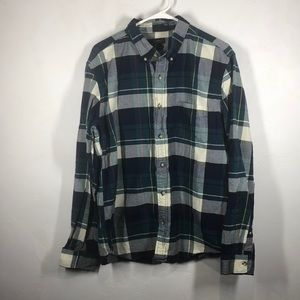 J.Crew Oxford Slim flannel top size xl